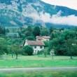 スイスのブドウ畑と城 (外国の風景⑩スイス)