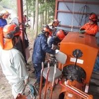 機械集材装置の架設撤収