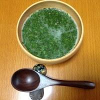 試作・モロヘイヤのスープ