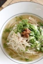 鶏肉とオクラのうめぇ~素麺