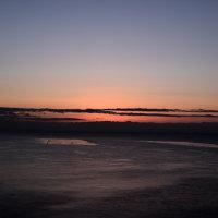 淡路島からの朝陽は綺麗だった。  快晴の朝陽。ラッキーでした。