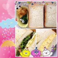 卵サンドとハンバーグサンド