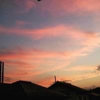 夕焼け空と…
