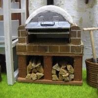 庭にピザ窯を作りました。ミニチュア