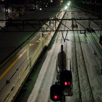 新潟駅南口 夕暮れ時