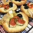 オランジェレザンノア と ぷちコーンチーズ と 大葉とチーズのリュスティック と 夏野菜ガレット と フォカッチャ と カンパーニュ