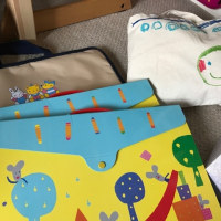 年イチ恒例、子供たちの作品整理