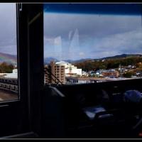 アストラムラインから春の虹を眺める。