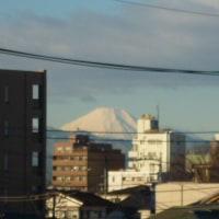 富士山 真っ白です。 /^o^\