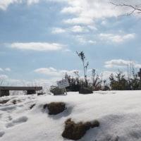 残雪の神名火山4山の朝日山登山(^^♪