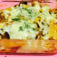 エリンギと挽肉のトマトチーズグラタン