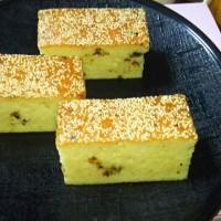 京風仕立ての味噌松風を作りました。