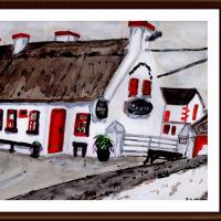 愛蘭土旅行シリーズ その22 ゴールウェイ郊外で見かけた古民家風レストラン