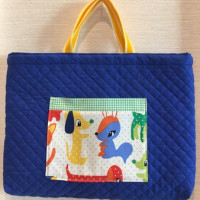 入学入園レッスンバッグを作りました。