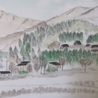 想い出の道志村の絵