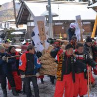 小野神社の御柱祭の綱縒祭・・・神社奉納4地区の様子