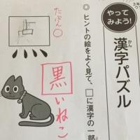 宿題の漢字パズル