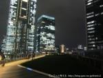 KITTEガーデンからみた、東京駅と丸の内の美しい夜景