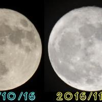 10月と11月の月を比較!