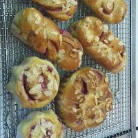 なんか思い出す。ラズベリーのフルーツパン作りました
