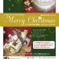 クリスマスケーキの予約始まりました!