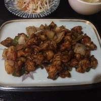 小作・香満園 鶏味噌炒め定食