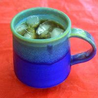 滄海マグカツプでアイスコーヒーを美味しく飲む ~♪
