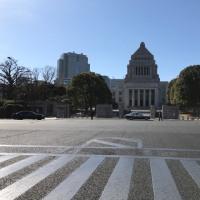 毎月19日は国会前までただ歩く。 神楽坂、飯田橋、靖国神社の早稲田通り〜内堀通りルートはちょっと遠回りなので、12:20出発、13:50に国会前に着きました。