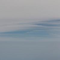 雲の上から~北海道へ~♪