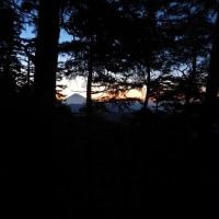 1985mピーク手前のテン泊地の朝