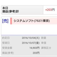 200円の部分約定で今日は終了~。