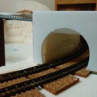 新レイアウトの制作 その23(トンネルポータルの制作:その1)