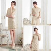 計算しつくされたデザインで気品ある雰囲気のドレス