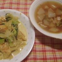 鶏肉とブロッコリーのカレークリーム煮&かぶのポトフ