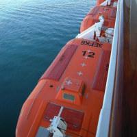 MSCーMUSICAの救命ボート