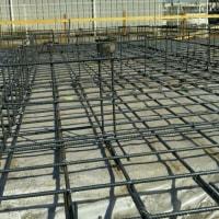 会社倉庫横基礎工事