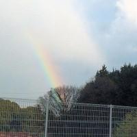 大荒れの天候/虹が綺麗でした