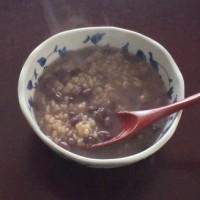 発芽玄米の小豆粥