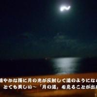 月の道が海面に姿を表します~