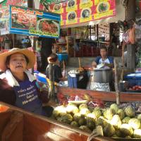 タイ旅行・覚え書き ダムヌンサドゥアック水上マーケット (ば)