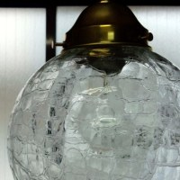 アイスクラック【ひび模様】ガラスペンダントライト('∇^d)