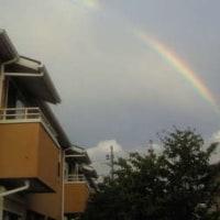 虹と500円クオカード