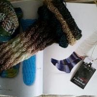 秋冬物編み物始めました