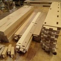 三種の木の学習机セット