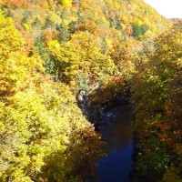 10月18日(火)さっぽろ自然散歩~定山渓ダム~の様子