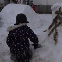 3年生雪像づくり