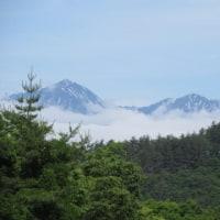 6月26日(月) 今日の常念岳&浅間山&蓼科山