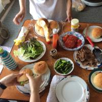 6月14日、SAKIWAIでハンバーガーを作りました。