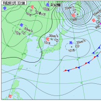 12月7日 アメダスと天気図。