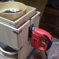 玄蕎麦の製粉 セラミック石臼 自作電動ふるい